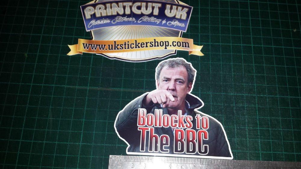 Jeremy Clarkson Rude Bbc Full Colour Sticker Vinyl Decal